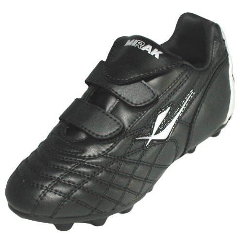 Mirak Boys Forward Velcro Moulded Grip Sole Football Rugby Boot Black