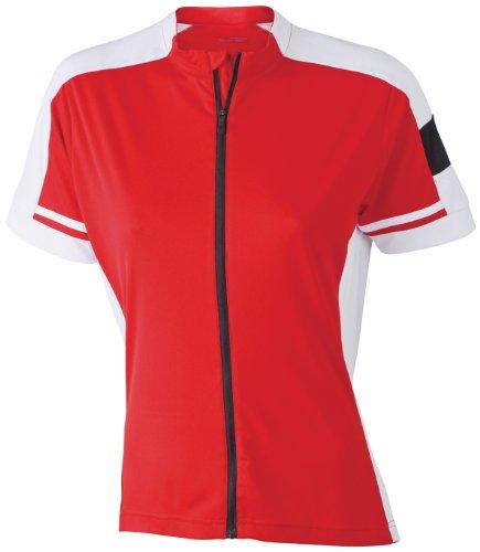 James & Nicholson Radtrikots Bike-T Full Zip Camiseta de Ciclismo, Mujer, Roja,...