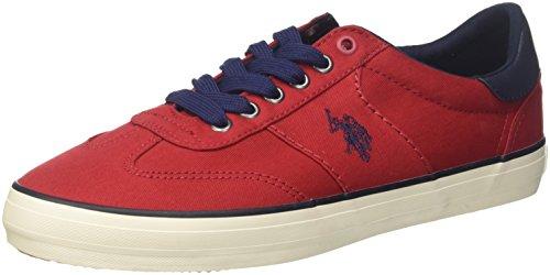 U.S. POLO ASSN. Ted, Sneaker Uomo, Rosso, 43 EU