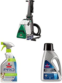 Bissell Big Green Professional Carpet Cleaner Machine, 86T3 with Oxy Stain Destroyer Pet Plus Pretreat, 1773, 22 oz and Deep Clean Pro 2X Deep Cleaning Concentrated Carpet Shampoo, 48 ounces