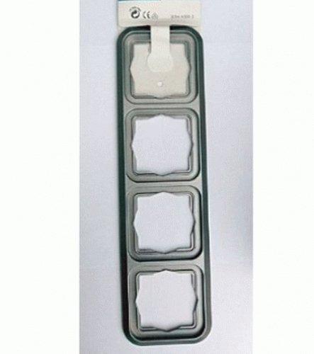 Kopp Abdeckrahmen 4-fach, Serie Ambiente, silber, Herstellernr.: 3054.4308.3