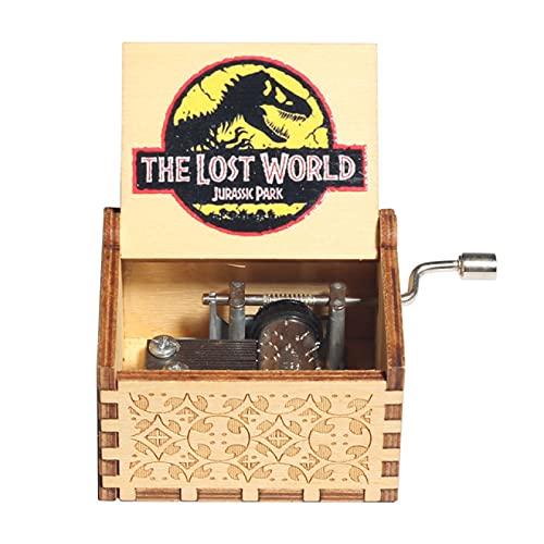 Caja de música de madera de Jurassic Park, eres mi caja de música de sol,decoración del hogar,cumpleaños,día de San Valentín,caja de música de Navidad de Halloween, elección perfecta para regalos