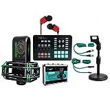 YPJKHM Juego de micrófonos de Anclaje Micrófono de Condensador Micrófono de grabación con Tarjeta de Sonido Tarjeta de Sonido para teléfono móvil Juego en Vivo