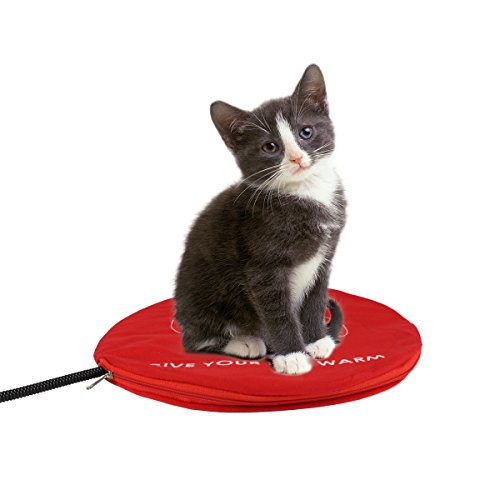 Namsan Warmer Pet Heating Pads - Dog Safety Indoor Bed Cat Electric Heating Blanket with Free Cover, Red (11.8')