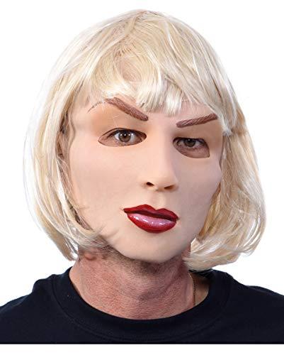 Blonde & masque Belle femme