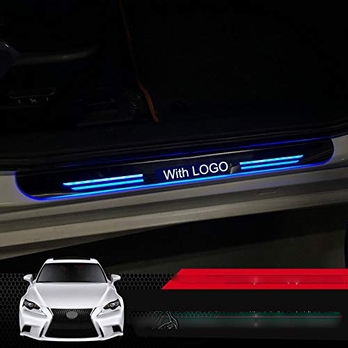 JXSMYBTB Acryl auto voordeur dorpel LED bewegend licht anti-scratch weg welkom pedaal 2 Stks/set. Voor Lexus IS250 200T 300