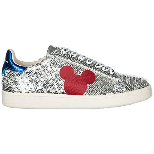 MOA Master Of Arts Women Disney Mickey Mouse Sneakers Silver 6.5 US