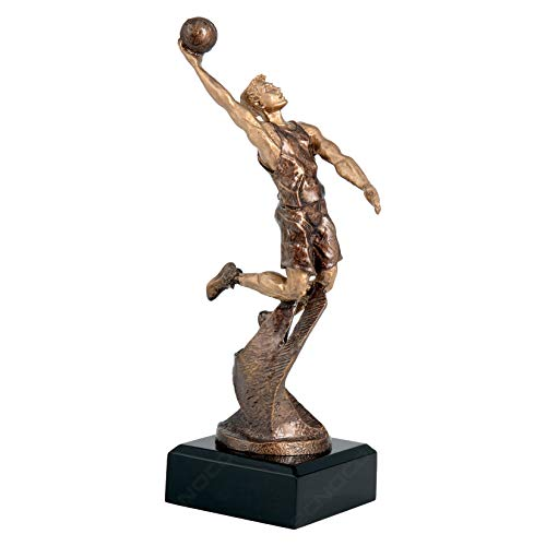 tecnocoppe Trofeo de baloncesto de 24,50 cm de altura – Baloncesto – Placa de regalo