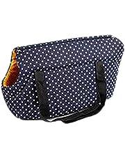 HBWHY Bolsa de viaje para perros y gatos, portátil, para ir de compras, caminar, conducir, senderismo, al aire libre, azul marino, pequeño