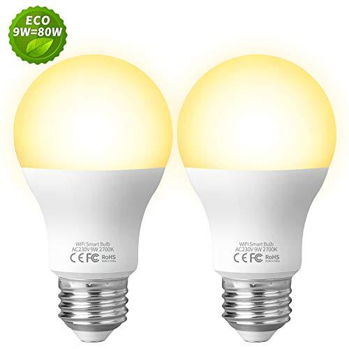 Ampoule Intelligente Connectée Ampoule LED WIFI E27, Fitop...