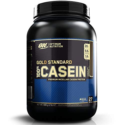 Optimum Nutrition 100% Gold Standard Casein, Proteine in Polvere di Caseina Micellare a Lento Rilascio con Glutammina e Aminoacidi, Supreme Cioccolato, 0.9 kg, 26 Porzioni