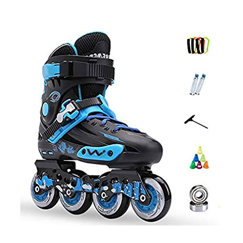Patines en línea Rodillo Ajustable Rodillo de profesional patines patines en línea, Adulto de una hilera de patines profesionales hombres y de mujeres Patines niño del sistema completo patines en líne