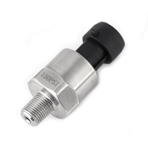 Trasduttore di pressione Psi 1 / 8NPT Filetto Sensore di trasduttore di pressione in acciaio inossidabile per olio combustibile Aria acqua(150 psi)