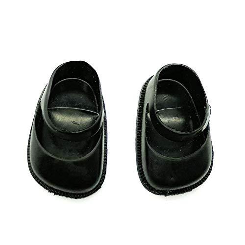 Folk Artesanía Par Zapatos Altos para muñeca Tipo Sintra, Noa, Nancy clásica Famosa Nuevo. No Apto para Nancy New. (Negro) (Negro)