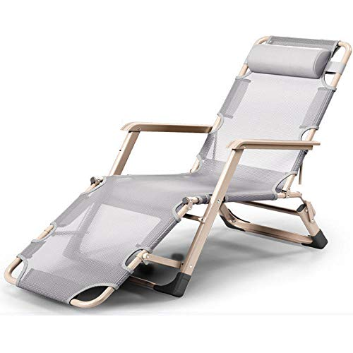 Beach Chair,Zero Gravity Sun Lounger, Reclining Garden Patio Deck Chair, Leisure Garden Outdoor Patio Sunloungers, Folding Reclining Chairs Lounger Deck Chairs-5