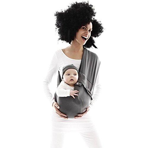 Wallaboo - Porte bébé Connection - Ergonomique de la naissance à 36 mois - Le porte-bébé sling à poche pratique et facile à installer - 100% Cotton - Couleur: Gris