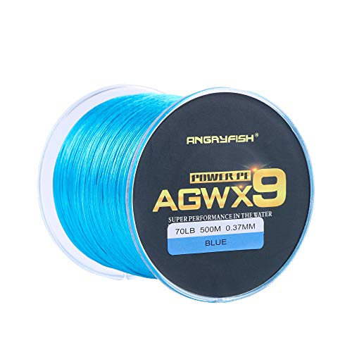 ANGRYFISH AGWX9 geflochtene Angelschnur, kostengünstig, glatt, mehrere Farben, extrem haltbar, wunderbares Werkzeug für Angelbegeisterte (blau, 9,1 kg / 0,14 mm - 300 m)