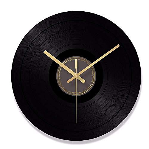 JSMY Reloj de Pared de Vidrio Templado Reloj de Pared Minimalista Negro Adecuado para habitación,Escuela,Oficina,Reloj de Pared para áreas públicas(Negro,30,5 cm)
