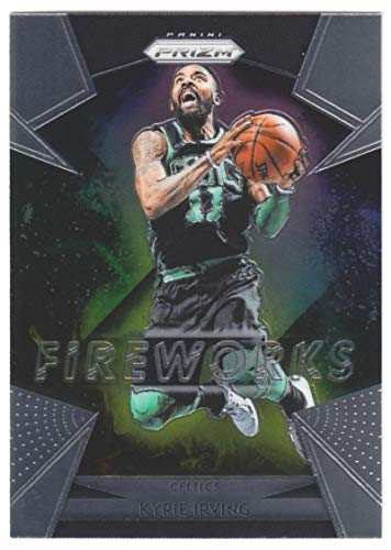 2018-19 Prizm Fireworks Basketball #9 Kyrie Irving Boston Celtics Official NBA Trading Card From Panini