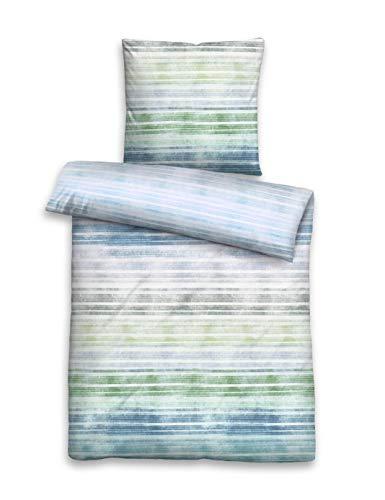 biberna 0024281 Juego de sábanas con Funda de Almohada en Suave Seersucker , 1x 135x200 cm + 1x 80x80 cm