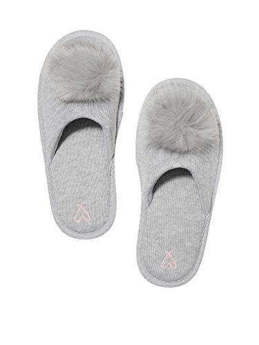 Victoria's Secret. Pom Pom Pretty Slippers Grey- Small 5/6