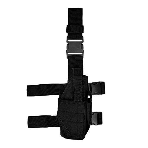kwmobile1x Pistolera Compatible con Pierna Derecha Funda táctica y sujeción para cinturón en Negro