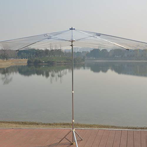 HH- Sombrillas Sombrilla Transparente Plegable con 8 Varillas Resistentes, Paraguas de Viaje A Prueba de Viento de Apertura Y Cierre, Portátil Impermeable & Resistente A La Lluvia
