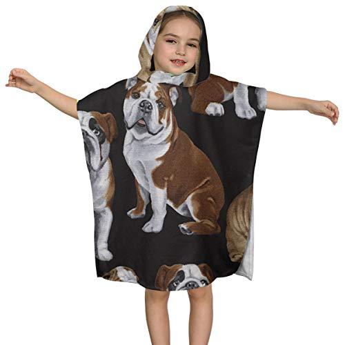 Hectwya Toalla Inglesa para niños Bulldogs para el baño de la Playa Gimnasio