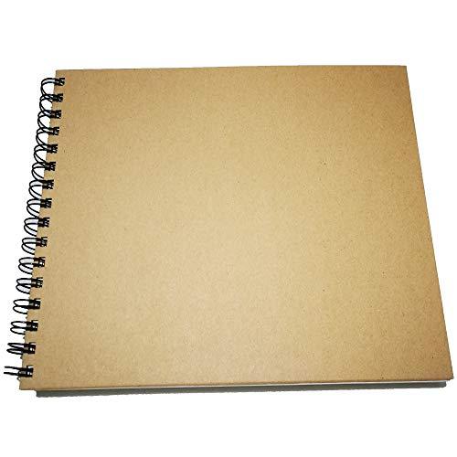 Eachgoo Bloc de Dibujo A3, Espiral Encuadernación Cuaderno de Dibujo con Tapa Dura 160 gsm 60 Hojas Apaisado