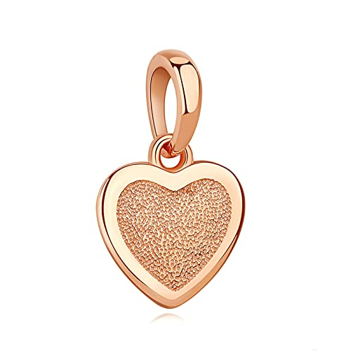 LILIANG Charm Jewelry Fashion 925 Sterling Silver Charm Bead Forever Love Rose Gold Heart Colgante Charm Fit Pulseras Originales Joyería DIY