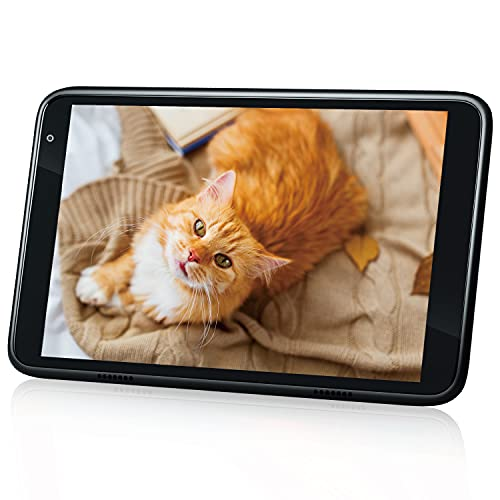 Android Tablet - Hyjoy 8 inch Tablets, IPS Full HD Touchscreen, 2GB RAM, 32GB Storage, Quad-Core Processor, Long Battery Life, Dual Camera, Wi-Fi, Bluetooth, Black