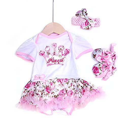 ZIYIUI Muñecas de Bebé Trajes Lindos Ropa para Bebés Niñas Juguetes para Muñecas Vestido Muñeca de Simulación para decoración Accesorios para Muñecas de 20-22 Pulgadas