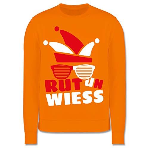 Shirtracer Karneval & Fasching Kinder - Rut un wiess - 140 (9/11 Jahre) - Orange - Verkleidung Kostüm - JH030K - Kinder Pullover
