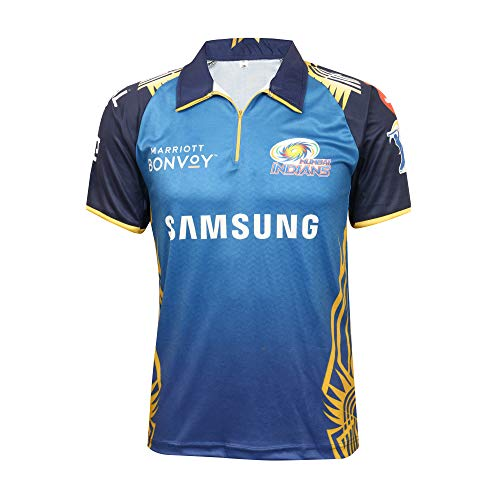 KD Cricket IPL Jersey Supporter Jersey T-Shirt 2020/21 MI, CSK, RCB,KKR,RR,KXIP,SRH and DC (MI, 38)