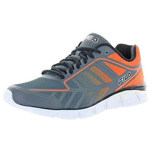 Fila Mens Memory Finity Mesh Memory Foam Running Shoes Gray 8.5 Medium (D)