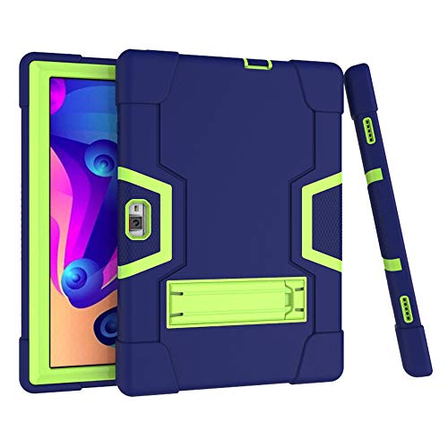 Koolbei for Vankyo s30 10 Inch Tablet Case,Hybrid Heavy Duty Three Layer Full-Body Shockproof Armor Rugged Hard Back Cover Built in Kickstand for Vankyo MatrixPad S30 10 Inch (Navy Blue+Green)