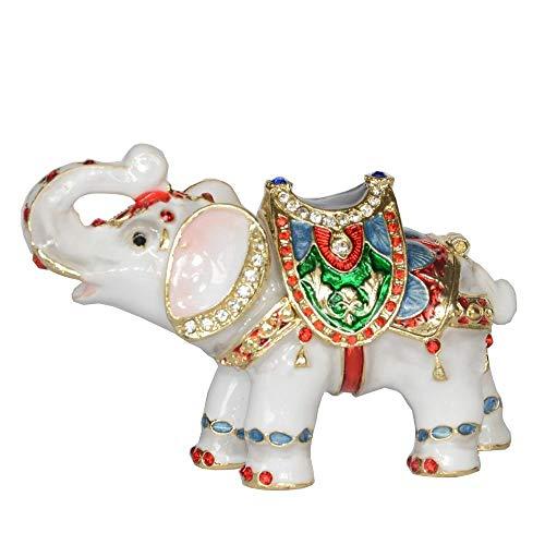DDXW Pequeña caja de almacenamiento de joyería caja collar soporte elefante escritorio decoración regalo