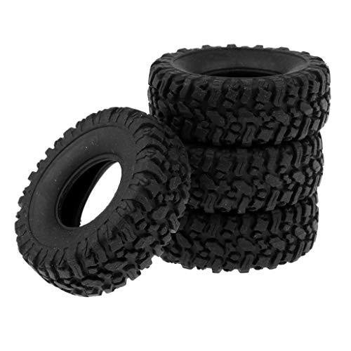 dailymall 4 Unids RC Coche 1/16 Neumáticos de Goma Suave Neumáticos para Wpl B14 B16 B24 C14 C24 B36