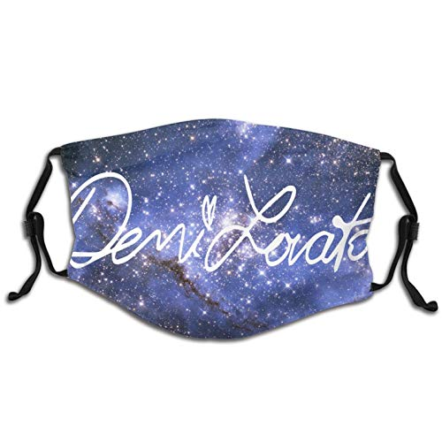 Demi Lovato Signature Logo Kids Face Mask Reusable Mouth Covering for Boys and Girls School Camping Travel Cycling Black