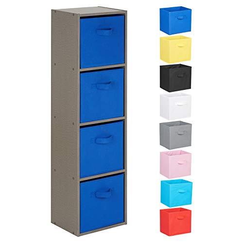 Hartleys Unité Cube Gris a 4 Niveaux - Choix de Boites de Rangement