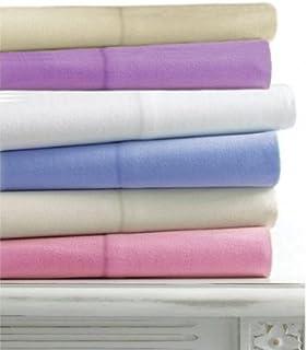 Linens Limited - Taies d'oreiller en Flanelle - 100% Coton peigné - Naturel - 50 x 75 cm