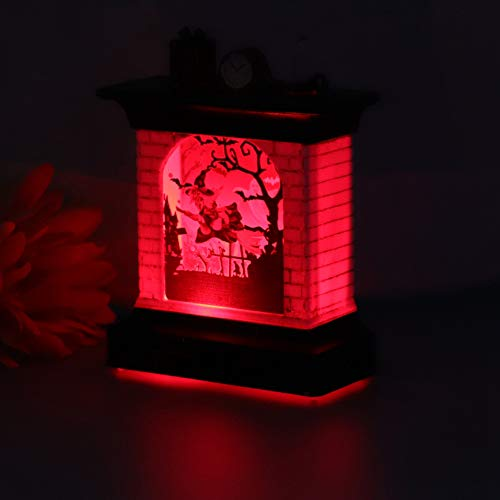 Aoutecen Fiesta de la Linterna de Halloween de la luz de la Chimenea de Halloween para la Sala de Estar(Witch Lights)