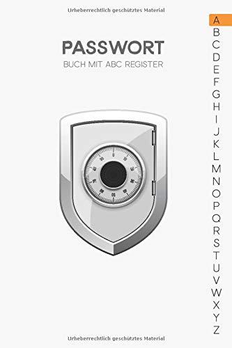 Passwort Buch mit ABC Register: Password Keeper für meine Login Daten in Größe A5
