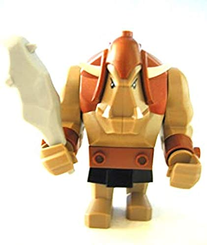 LEGO CASTLE - SAMMELFIGUR - seltener RIESENTROLL TROLL ORK aus Set 7036 (ZWERGENMINE) + graue Keule