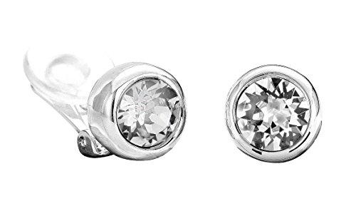 Traveller Ohrclip mit Crystals from Swarovski rhodiniert - 156241