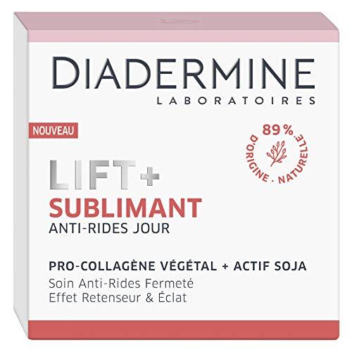 Diadermine - Lift+ Sublimant - Crème Soin de Jour - Anti-Rides Ultra Fermeté - Soin Fermeté - Pro-Collagène végétal et actif soja - 89% d'ingrédients d'origine naturelle - Pot de 50 ml