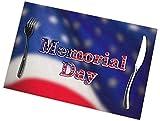 Tovagliette Americane Per Il Memorial Day Set Di Tovagliette Antiscivolo Resistenti Al Calore E Lavabili Per La Casa30 Cm X 45 Cm (12 Pollici X 18 Pollici) 6 Pezzi