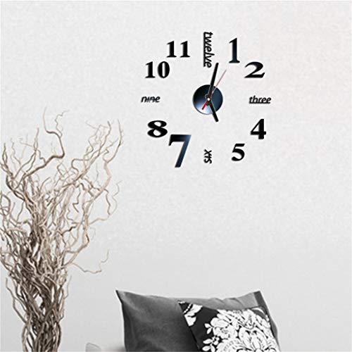 KEoly 3D números Romanos DIY Espejo acrílico Autoadhesivo de Pared Reloj decoración para la casa Pared Pegatinas de Pared Adhesivo de Pared Personalizado con Reloj