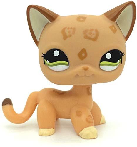 N/N Littlest Pet Shop, LPS Toy Rare Orange Spotted Leopard Cheetah Cat Green Eyes