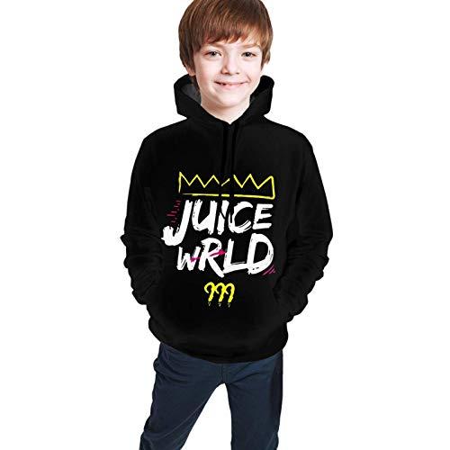 Sudaderas con Capucha Sudaderas de Manga Larga Juice Wrld 999 Camisa Larga con Estampado 3D de Dibujos Animados para Adolescentes Unisex Camisa Adolescente para niños